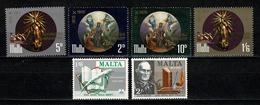 Malta 1971 Yv. 422/423**, 427/30**, Mi 420/421**, 425/28**  Cat. Yv. 2,60 € - Malte