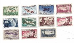 Lot 22 Timbres Poste Aerienne 11 Oblitere Et 11 Non Oblitere Voir Scan - Poste Aérienne
