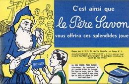 LOT DE 5 BUVARDS ILLUSTRES PUBLICITAIRE : LE PERE SAVON - - Perfume & Beauty