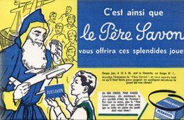 LOT DE 5 BUVARDS ILLUSTRES PUBLICITAIRE : LE PERE SAVON - - Parfum & Cosmetica