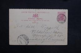 SIERRA LEONE - Entier Postal De Freetown Pour L 'Allemagne En 1897 - L 31497 - Sierra Leone (...-1960)