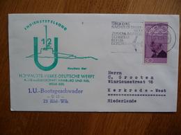 (zw) Schiffpost Shipmail 1.U-BOOTSGESCHWADER U12.1969 DEUTSCHE BUNDESPOST.. - Boten