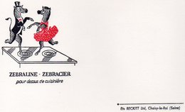 LOT DE 5 BUVARDS ILLUSTRES PUBLICITAIRES : ZEBRALINE -ZEBRACIER -ETS RECKITT-CHOISY LE ROI - - Pulizia
