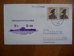 (zw) Schiffpost Shipmail INDIENSTELLUNG U11 S-190 1968 DEUTSCHE BUNDESPOST BERLIN - Boten