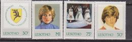 Lesotho - 1982, Diana Set MNH - Case Reali