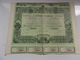 Compagnie Madrilène D'éclairage & De Chauffage (1880) Madrid ESPAGNE - Shareholdings