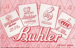 LOT DE 5 BUVARDS ILLUSTRES PUBLICITAIRES : BUHLER - Pulizia