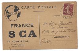 LAVAL - Carte QSL - R Audureau - 29 Rue De Bretagne - Laval