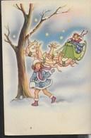 BUON NATALE - BAMBINI E RENNE - EDIZ. CASA MAMMA DOMENICA - SCRITTA E DATATA 1951 - Natale