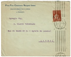 Ref 1300 - 1921 Portugal Cover 10c Ceres Local Rate - P.F.C. Navigante Italiana Italy - 1910-... Republic
