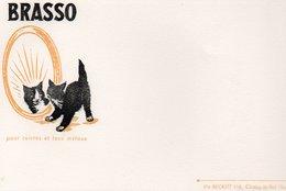 LOT DE 5 BUVARDS ILLUSTRES PUBLICITAIRES : BRASSO - ETS RECKITT -CHOISY LE ROI - Pulizia