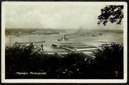 Ref 1300 - Real Photo Postcard - Nijmegen Riviergezicht - Holland Netherlands - Nijmegen