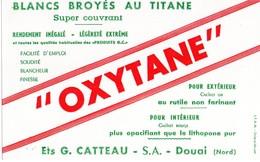 Buvard  OXYTANE.. Blancs Broyés Au Titane Des Ets CATTEAU S A  A  DOUAI 59 - Paints