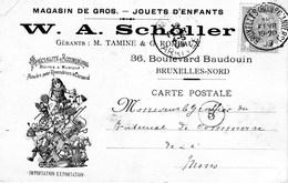 W.A. Scholler Specialité D'accordéons,boites à Musique, Carnaval.Entier Postal 1909 - Documents Historiques