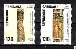 Gabon  - 1976. Sculture Lgnee .Serie Completa. Easter. Wooden Sculptures. Complete MNH Series. - Pasqua