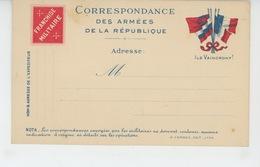 GUERRE 1914-18 - Carte De Correspondance Des Armées Avec Franchise Militaire - War 1914-18