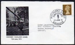 Großbritannien 1971 Illustrierter Brief/ Letter  Sonderstempel  ABERDEEN  HIGHLAND GAMES HAZLEHEAD - Ohne Zuordnung