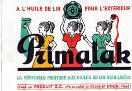 Buvard  PRIMALAK La Veritable Peinture Aux Huiles De Lin Stabilisées Pour Exterieur De G  C  Sté Anonyme A Douai 59 - Paints