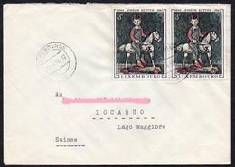 "Luxemburg 1969 MiNr. 790 (2)  Brief/ Letter ;  Joseph Kutter , Gemälde  ""Holzpferd"" - Künste"