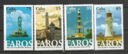 Phares De L'île De Cuba, 4 Timbres Neufs ** Année 2014.  4 Timbres Neufs ** - Lighthouses