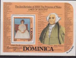 Dominica 1982 Diana Set MNH - Case Reali