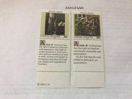 United Nations New York Human Rights Mnh 1992 #abc - New York – UN Headquarters