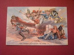 Les Nations Poursuivant Le Crime - Paul Dufresne 1914 - Humour