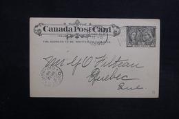 CANADA - Entier Postal De Montréal Pour Quebec En 1898 - L 31521 - Briefe U. Dokumente