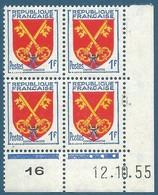 Coin Daté N°1047 Armoiries Du Comtat Venaissin (12.10.55) Neuf** - 1950-1959