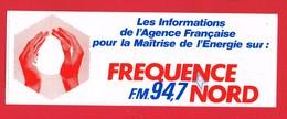 1 Autocollant  RADIO FREQUENCE NORD - Autocollants
