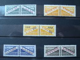 SAN MARINO 1956-61 PACCHI POSTALI SERIE COMPLETA NUOVA ** MNH N. 37-41 CAT. € 60,00 - San Marino