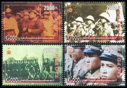 334 - Laos 2009  YT 1709-12 ; Mi# 2112-15 **  MNH  60 Years Army - Laos