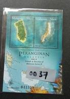 SZ 0037 Islands & Beaches Of Malaysia Series II 2003 Coral Fish Map Tourism Island Beach (ms) MNH Embossed *unusual - Malaysia (1964-...)