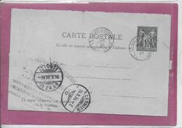 CARTE POSTALE Type Sage 10 Cts ( La Roche -S-Foron  à Cernier ) - Postmark Collection (Covers)