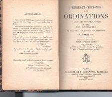 PRIERES ET CEREMONIES DES ORDINATIONS Par M. L'ABBE D - Religion