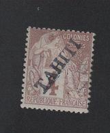 Faux Tahiti N° 9, 4 C Alphée Dubois Gomme Charnière - Tahiti (1882-1915)