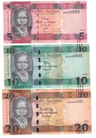 South Sudan Lot Set 5 / 10 / 20 Pounds UNC - Südsudan
