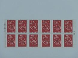 3744b-C 8 Avec Numéro De Liasse Carnet 12 Timbres Marianne De LAMOUCHE - Libretas