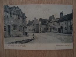 CP LACOCK ANGLETERRE WET STREET 1906 - Angleterre