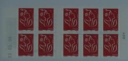 3744-C 8 Daté 03.01.06  Carnet 10 Timbres Marianne De LAMOUCHE - Libretas