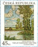 Czech Republic - 2019 - Art On Stamps - Václav Radimský - Mint Stamp - Czech Republic