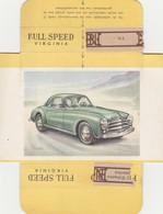 FULL SPEED VIRGINIA Nr 151, SIMCA 1952 - Cigarette Cards