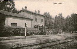 (109)  CPA  Akbou  Gare  (bon état) - Autres Villes