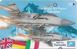 Gibraltar - GNC (Chip) - Air Forces RAF F3 Tornado, 1999, 50U, 3.000ex, Used - Gibraltar