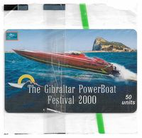 Gibraltar - GNC (Chip) - Powerboat Festival, 2000, 50U, 5.000ex, NSB - Gibraltar