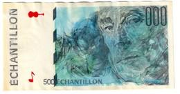 France Echantillon 500 Test Banknote - Specimen