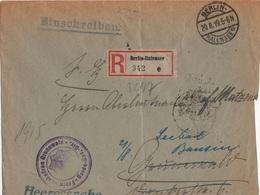 ALLEMAGNE REICH LETTRE RECOMMANDEE EN FRANCHISE MILITAIRE CACHET FREIW.SKADRON GRUNEWALD - Allemagne