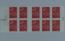 3744c-11 Avec Repère électronique  Carnet 10 Timbres Marianne De LAMOUCHE - Libretas