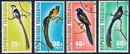 Togo - Oiseaux Tropicaux 750/753 (année 1972) Oblit. - Passereaux
