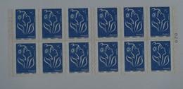 4127-C 1b Avec Numéro De Liasse  Carnet 12 Timbres Bleus Marianne De LAMOUCHE - Usage Courant